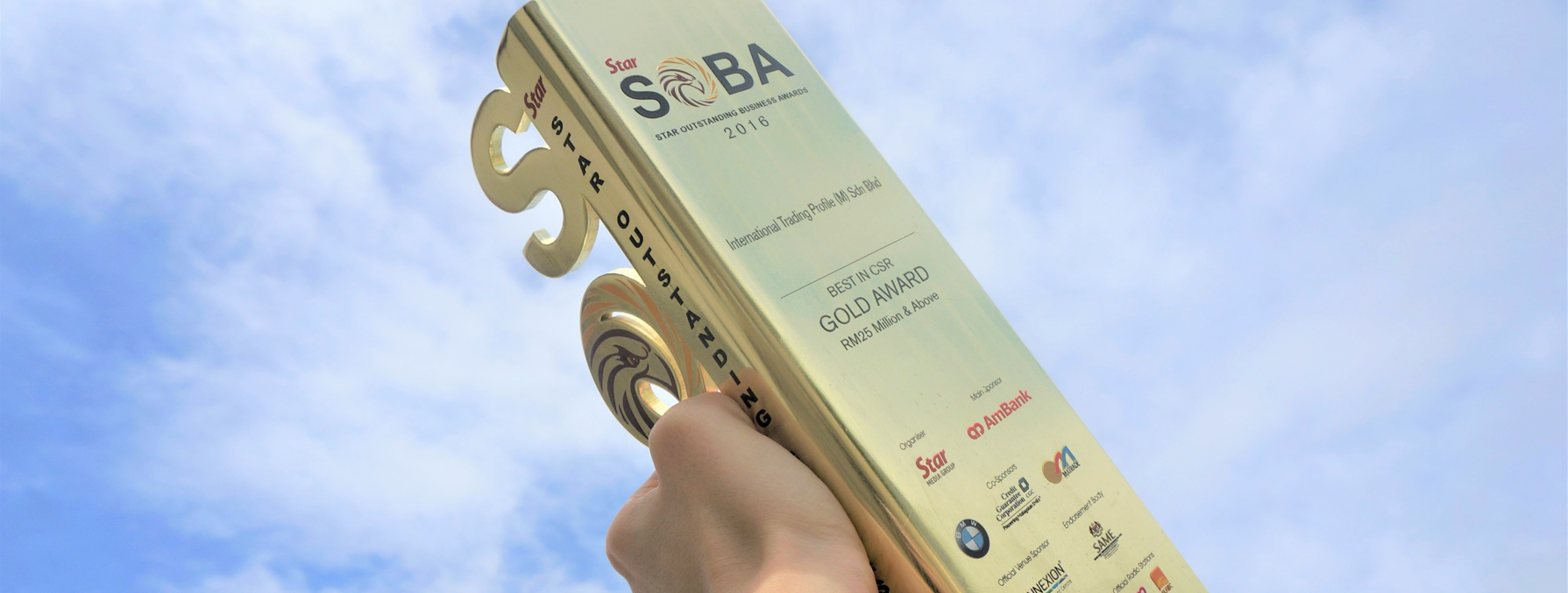 ITP is rewarded with Gold Award in Best CSR by SOBA Awards (17 Jan 2017)
